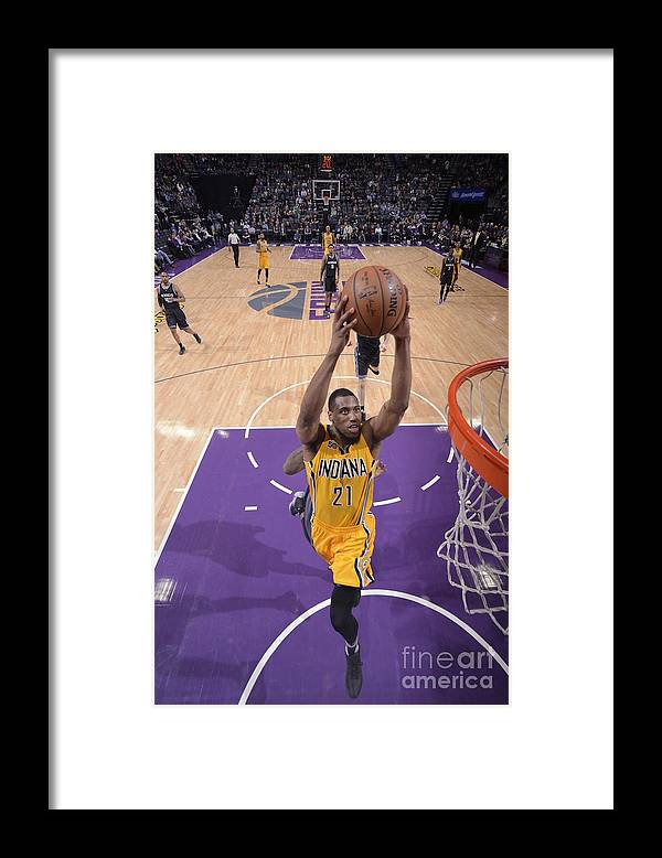 Nba Pro Basketball Framed Print featuring the photograph Thaddeus Young by Rocky Widner
