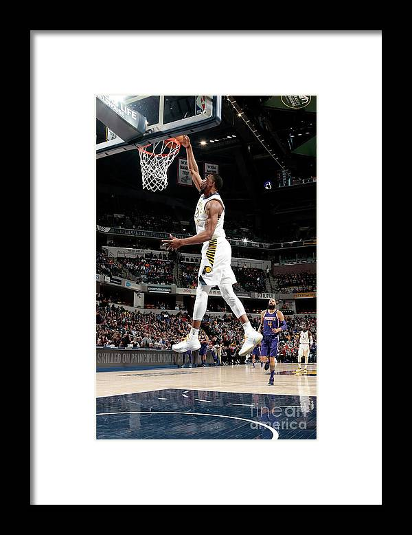 Nba Pro Basketball Framed Print featuring the photograph Thaddeus Young by Ron Hoskins