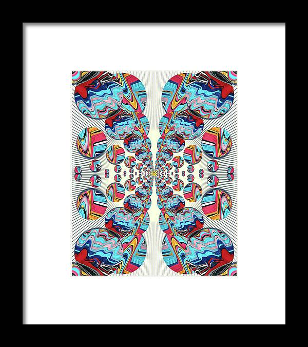 Abstract Framed Print featuring the digital art The Butterfly Effect by Jack Entropy