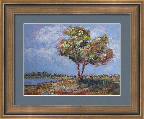 Tree Framed Print featuring the painting The Casual Observer by Karren Case