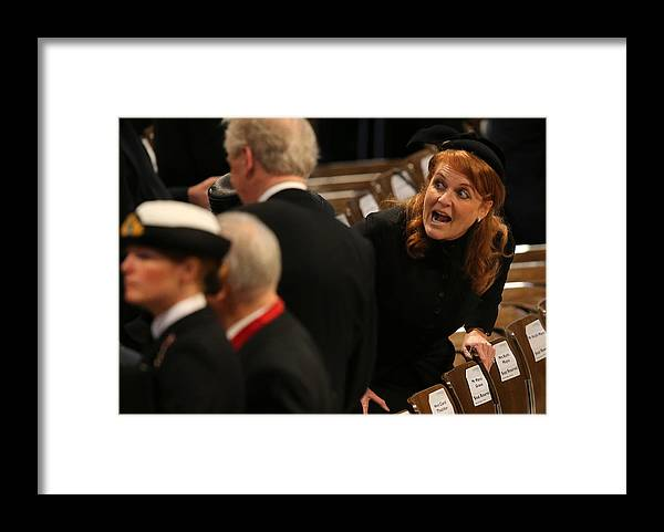 England Framed Print featuring the photograph The Ceremonial Funeral Of Former British Prime Minister Baroness Thatcher by Christopher Furlong