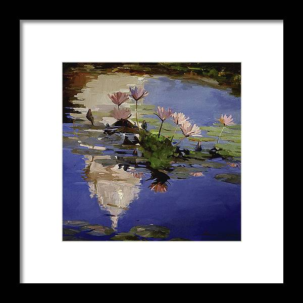 Water Lilies Framed Print featuring the painting The Dome - Water Lilies by Betty Jean Billups