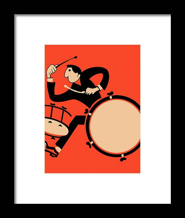 Drum Framed Print featuring the photograph The Drummer by Mark Rogan