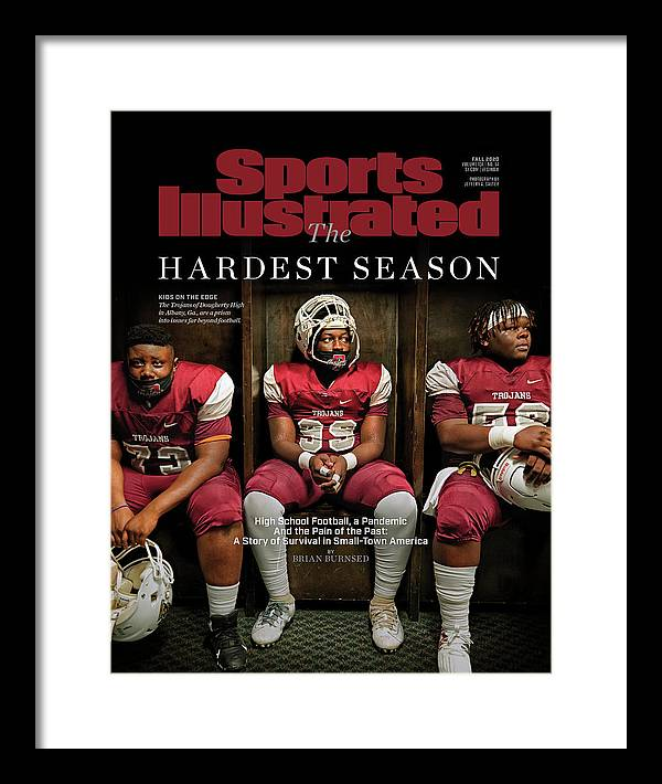 X163367_tk_2_2602cov Framed Print featuring the photograph The Hardest Season by Sports Illustrated