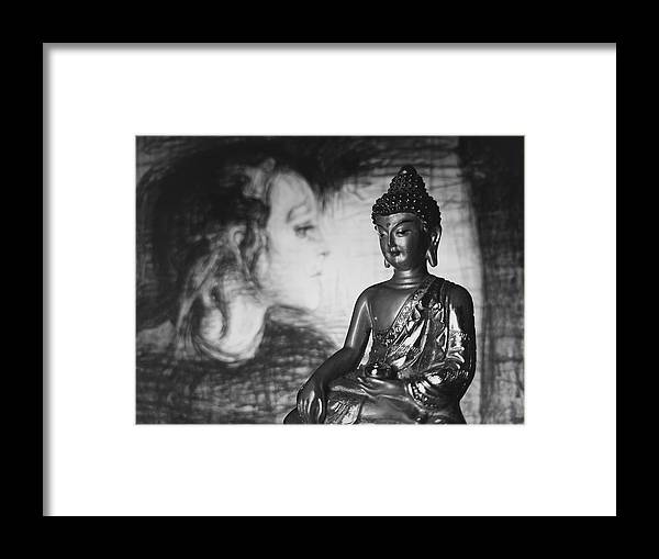 Buddha Framed Print featuring the photograph The Healer by Barista Uno