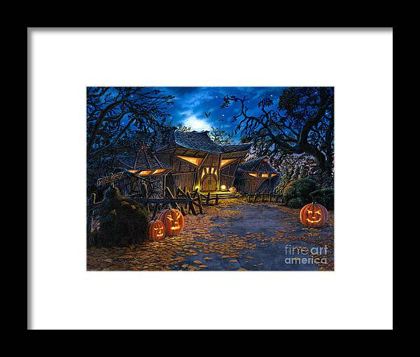 Haunted House Framed Print featuring the painting The House At Dead End by Stu Shepherd