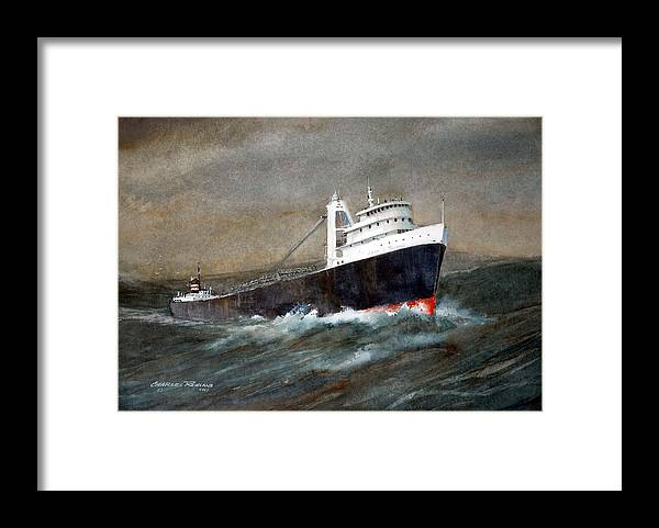 Ships Framed Print featuring the painting The John J Boland by Charles Rowland