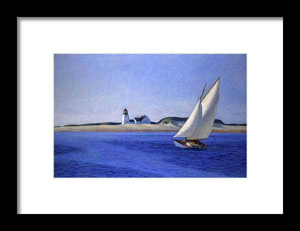 Edward Hopper Framed Print featuring the painting The Long Leg by Edward Hopper