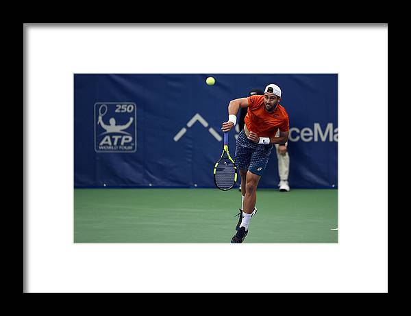 Tennis Framed Print featuring the photograph The Memphis Open - Day 4 by Stacy Revere