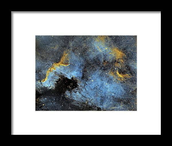 Nebula Framed Print featuring the photograph The North America Nebula by Prabhu Astrophotography