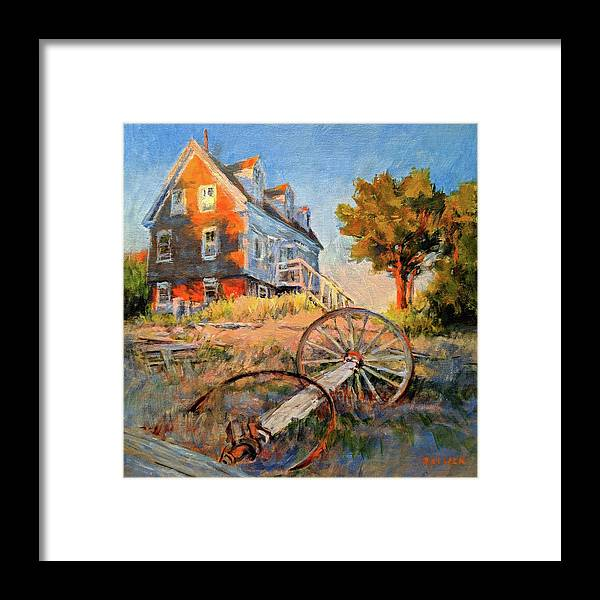 Cape Cod Framed Print featuring the painting The Old Silva Place No. 2 by Peter Salwen