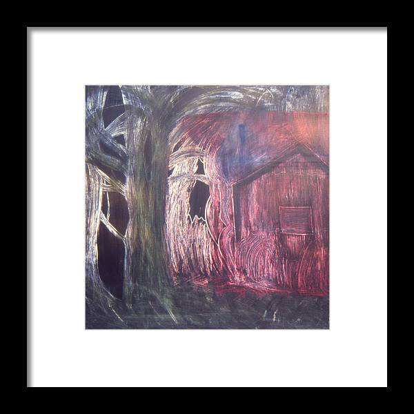 Landscape Framed Print featuring the painting The opening by Ingrid Torjesen