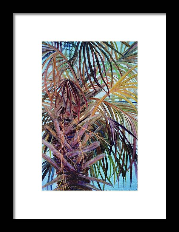 Palm Tree Framed Print featuring the painting The Palm by Ben Kiger