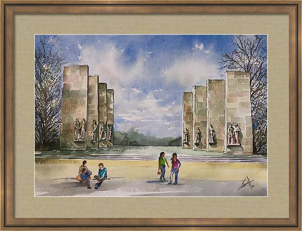 The Pylons Virginia Tech by George Jacob