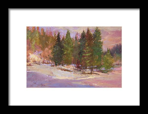 Plein Air Painting Framed Print featuring the painting The Road Home Plein Air by Betty Jean Billups