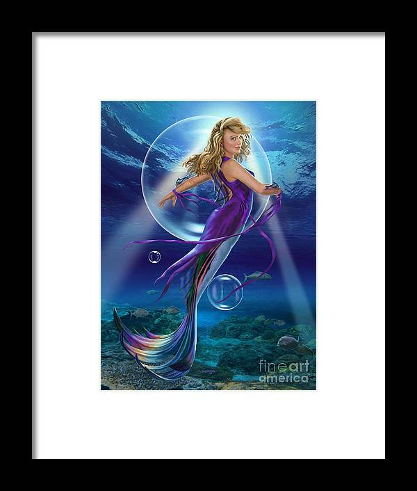 Mermaid Framed Print featuring the digital art The SeaDancer by Stu Shepherd