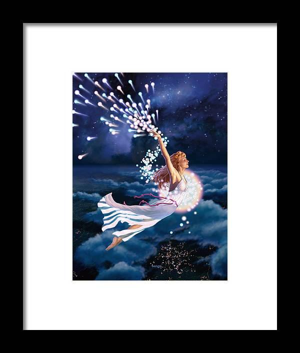 Stardancer Framed Print featuring the digital art The Stardancer by Stu Shepherd