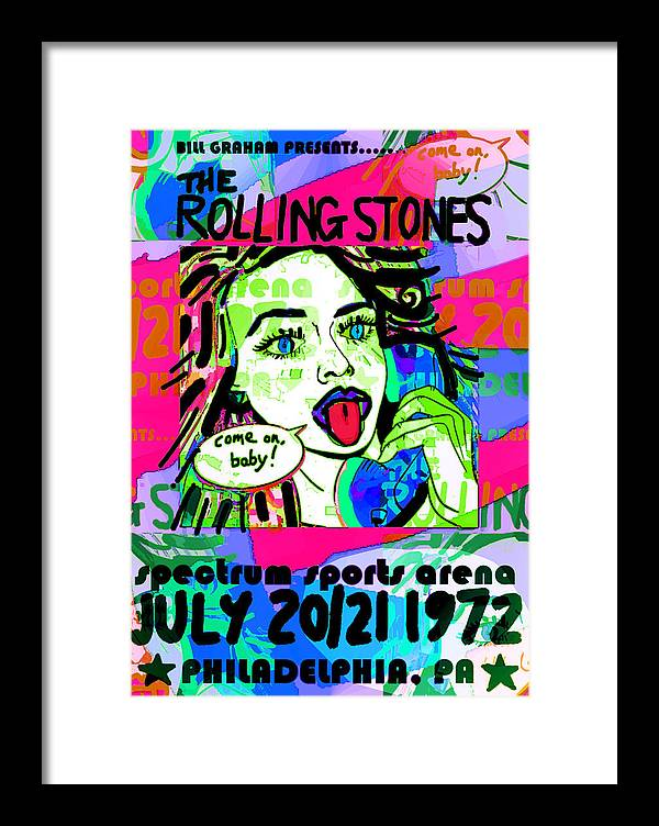 The Stones Live Philly 1972  by Enki Art