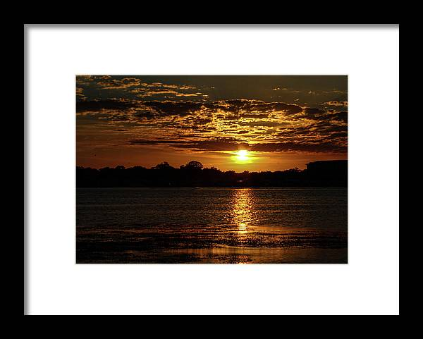 Sunset Framed Print featuring the photograph The Sunset over the Lake by Daniel Cornell