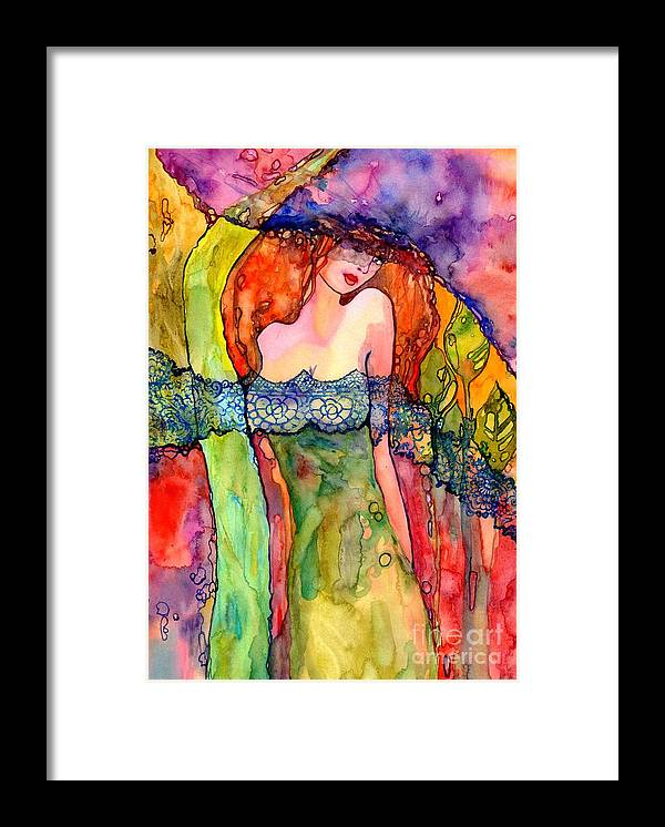 Lady Spring Framed Print featuring the painting The Warmth I Bring by Suzann Sines