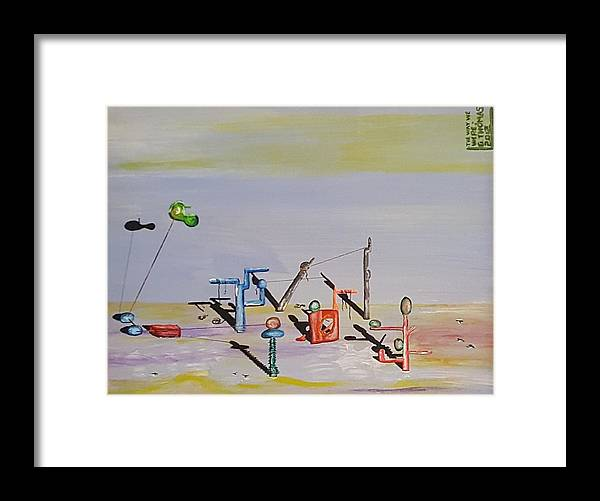 Surrealism Framed Print featuring the painting The Way We Were by Quintus Curtius