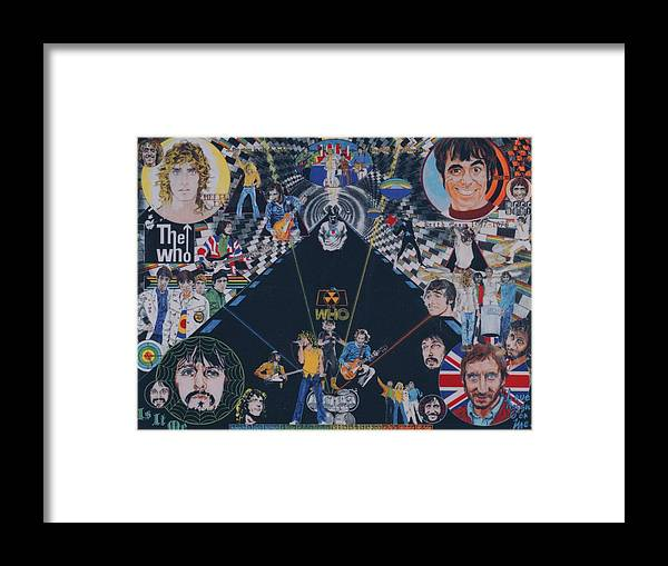 Montage Framed Print featuring the drawing The Who - Quadrophenia by Sean Connolly