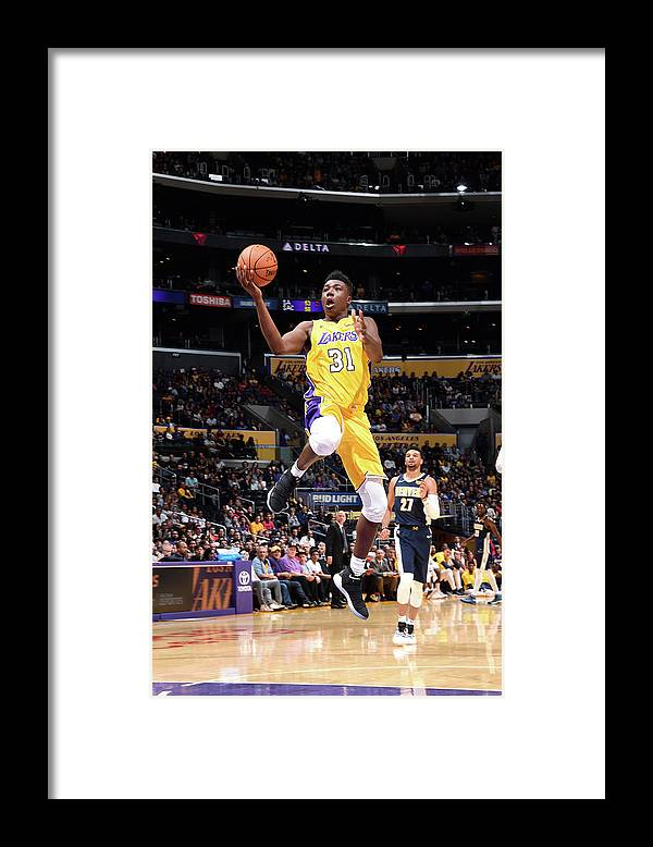 Nba Pro Basketball Framed Print featuring the photograph Thomas Bryant by Andrew D. Bernstein