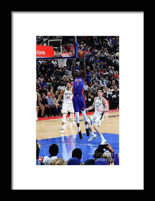 Playoffs Framed Print featuring the photograph Thon Maker by Chris Schwegler