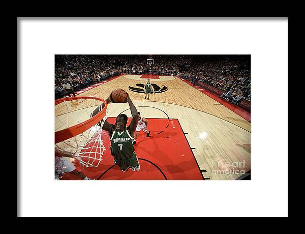 Nba Pro Basketball Framed Print featuring the photograph Thon Maker by Ron Turenne