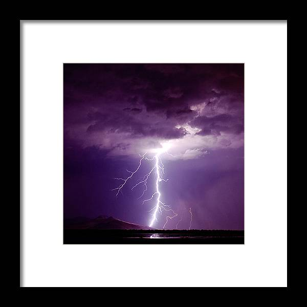 Thunderstorm Framed Print featuring the photograph Thor's Hammer by Scott Stringham photographer