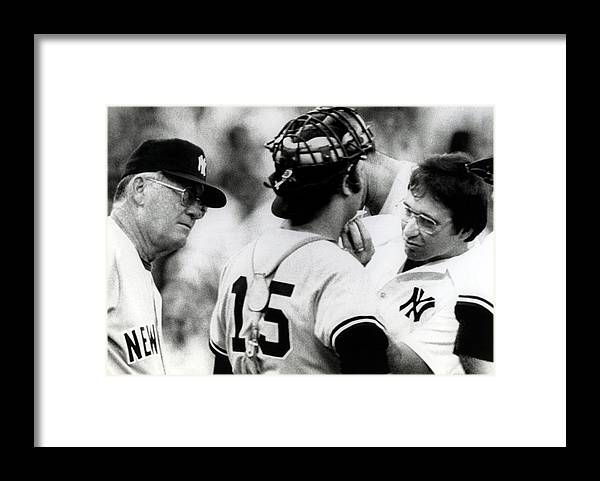 Thurman Munson Framed Print featuring the photograph Thurman Munson by B Bennett