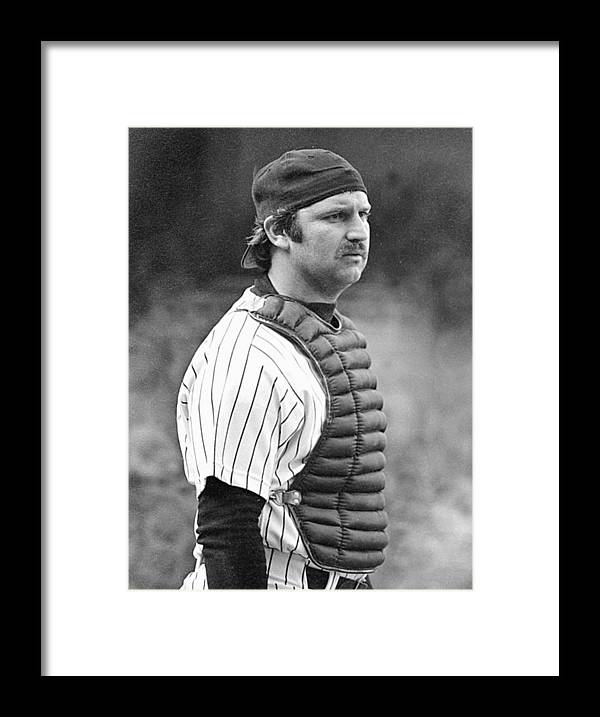 Thurman Munson Framed Print featuring the photograph Thurman Munson by Ronald C. Modra/sports Imagery
