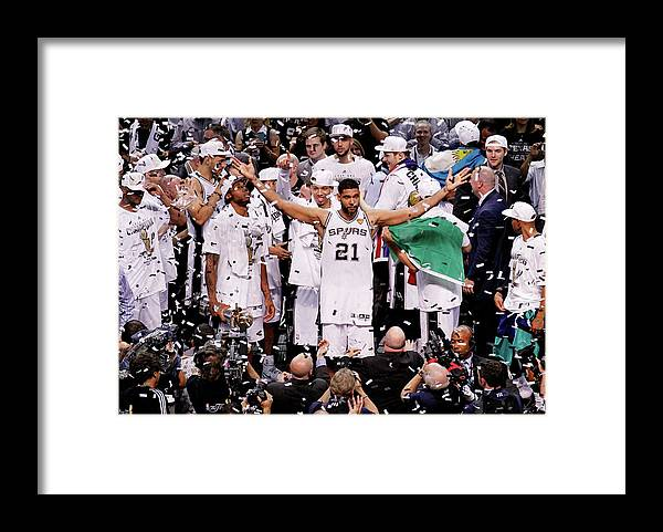 Playoffs Framed Print featuring the photograph Tim Duncan by Chris Covatta