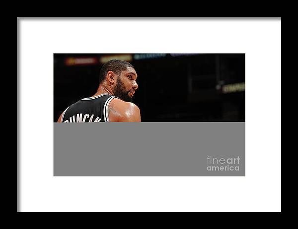 Nba Pro Basketball Framed Print featuring the photograph Tim Duncan by Noah Graham