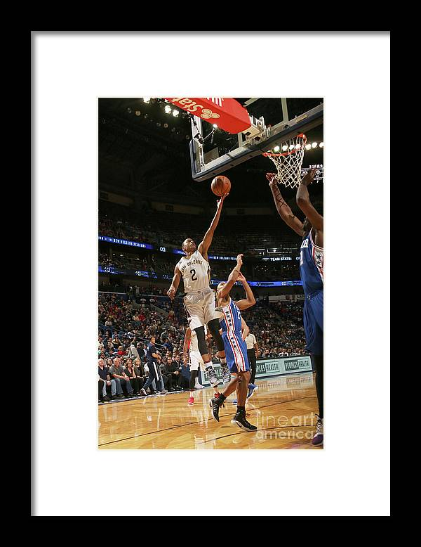 Smoothie King Center Framed Print featuring the photograph Tim Frazier by Layne Murdoch