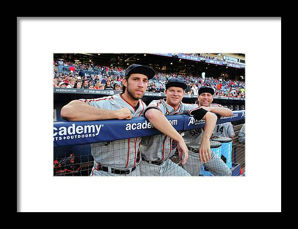Atlanta Framed Print featuring the photograph Tim Hudson and Matt Cain by Scott Cunningham