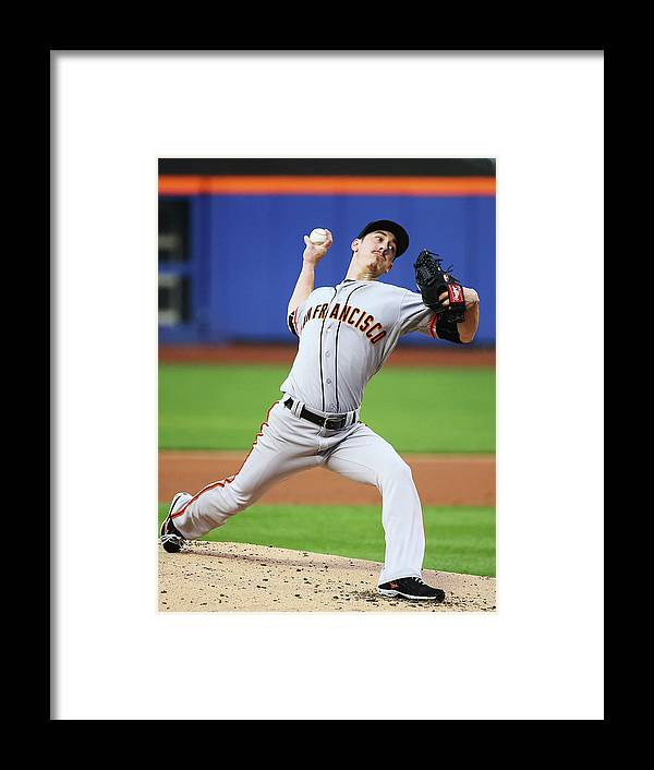 American League Baseball Framed Print featuring the photograph Tim Lincecum by Al Bello