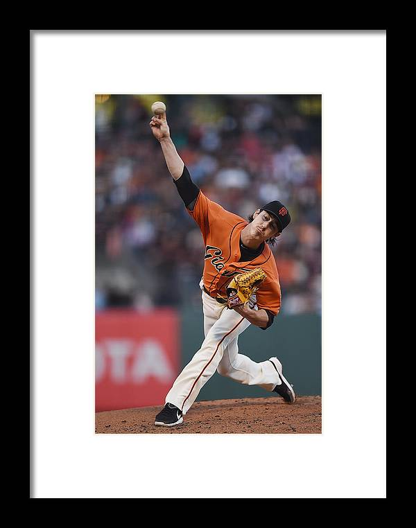 San Francisco Framed Print featuring the photograph Tim Lincecum by Thearon W. Henderson