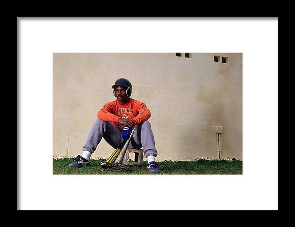 1980-1989 Framed Print featuring the photograph Tim Raines by Ronald C. Modra/sports Imagery
