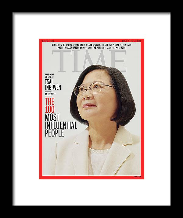 2020 Time 100 Framed Print featuring the photograph TIME 100 - Tsai Ing-Wen by Photograph by Nhu Xuan Hua for TIME