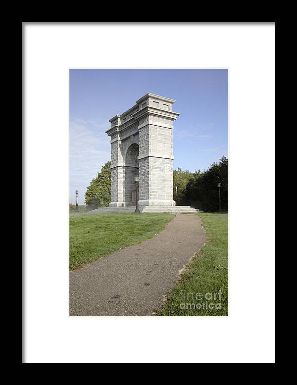 Landscape Framed Print featuring the photograph Titus Arch Replica - Northfield NNew Hampshire by Erin Paul Donovan