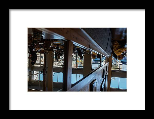 Reflections Eating Diner Food Mirror People Upside Down Framed Print featuring the photograph Tnarautser by Peyton Vaughn