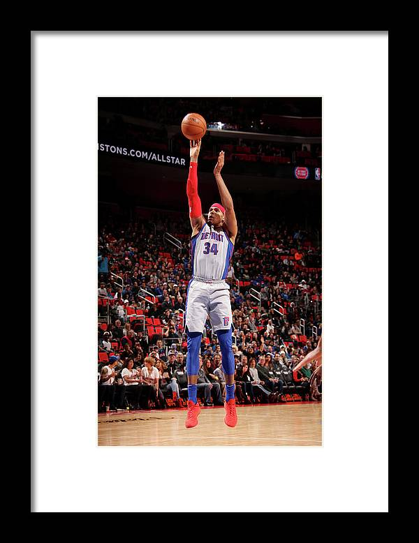 Nba Pro Basketball Framed Print featuring the photograph Tobias Harris by Brian Sevald