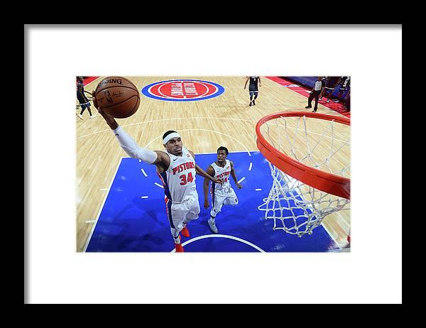 Nba Pro Basketball Framed Print featuring the photograph Tobias Harris by Chris Schwegler