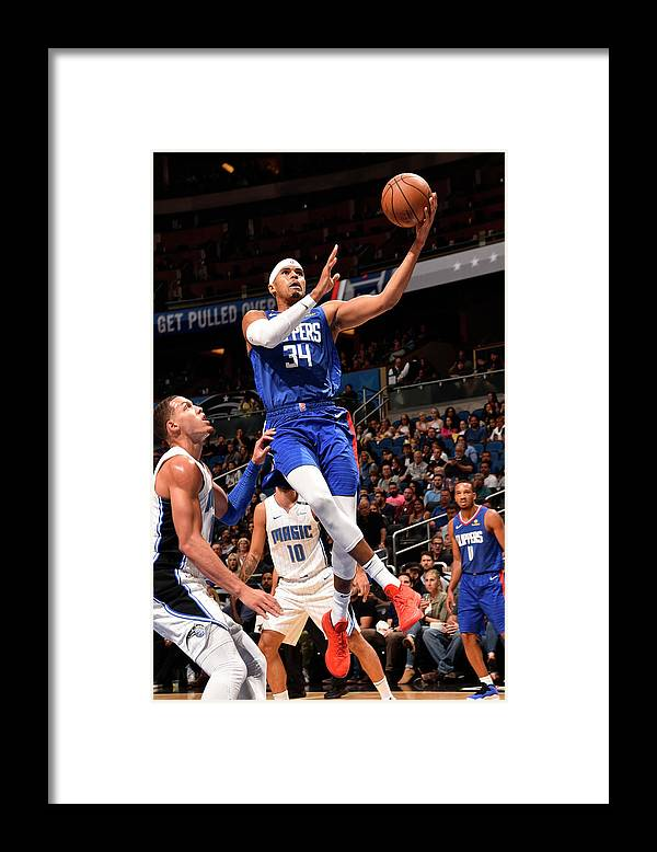 Nba Pro Basketball Framed Print featuring the photograph Tobias Harris by Gary Bassing