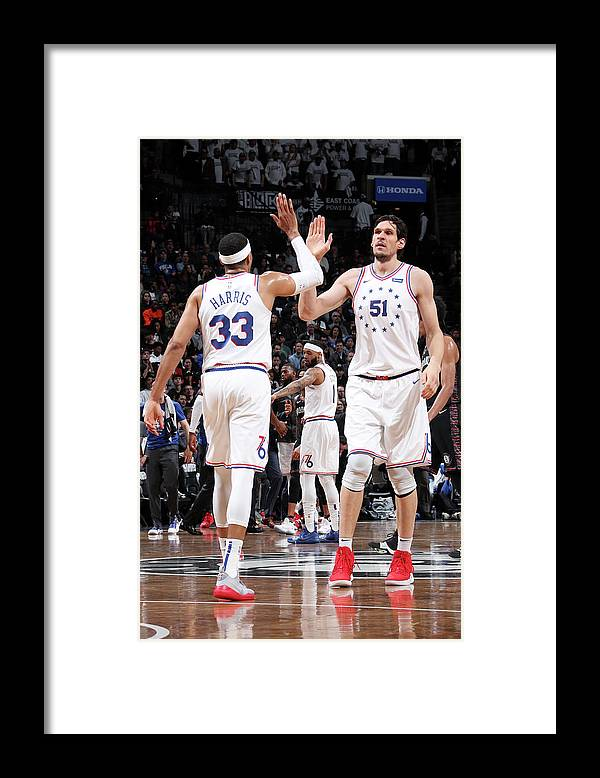 Playoffs Framed Print featuring the photograph Tobias Harris by Nathaniel S. Butler
