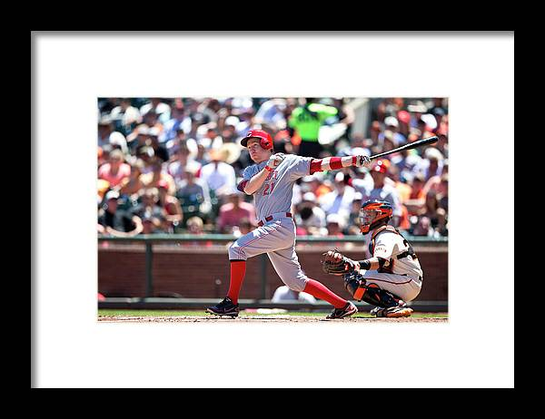 San Francisco Framed Print featuring the photograph Todd Frazier by Jason O. Watson