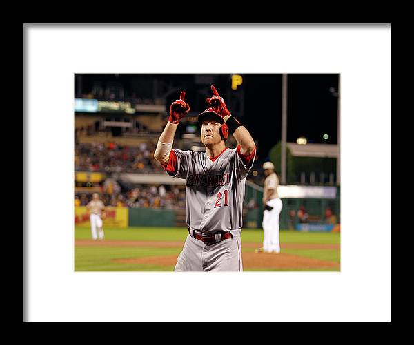 People Framed Print featuring the photograph Todd Frazier by Justin K. Aller