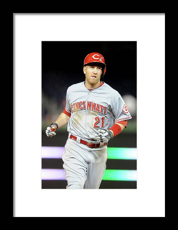 People Framed Print featuring the photograph Todd Frazier by Mitchell Layton