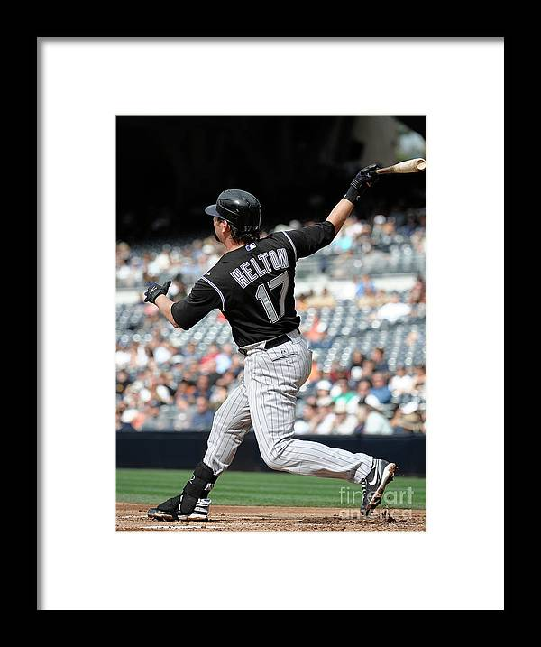 People Framed Print featuring the photograph Todd Helton by Denis Poroy